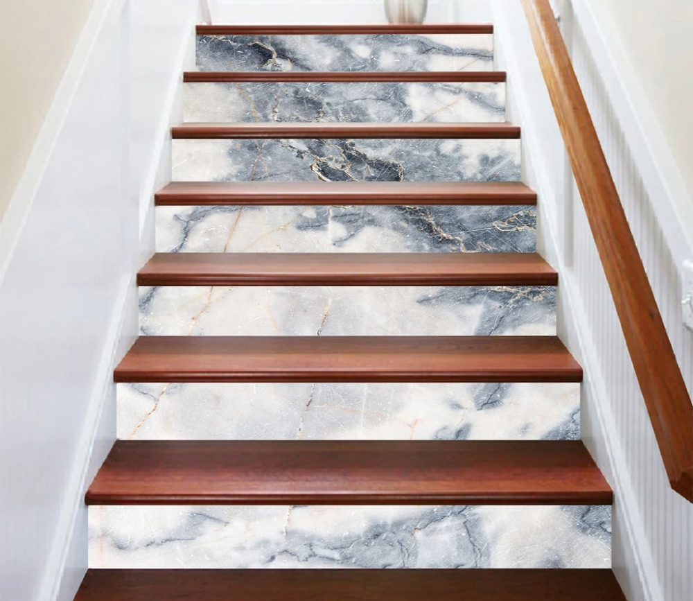 3d White Moon 5770 Marble Tile Texture Stair Risers Aj Wallpaper Stair Risers Tiles Texture Marble Tiles