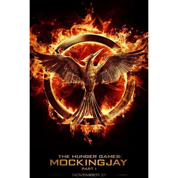 First 'Hunger Games Mockingjay Part 1' Poster Revealed ❤ liked on Polyvore featuring hunger games i books/movies