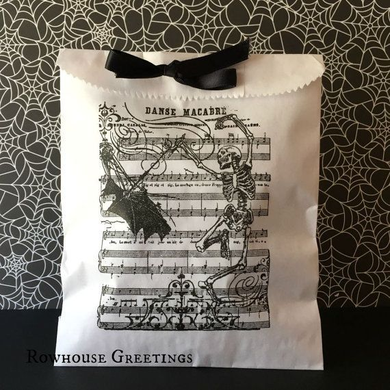 Halloween Treat Bags Halloween Candy Bags by RowhouseGreetings