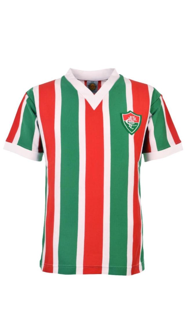 Camisa Futebol Retrô Tricolor Carioca Masculina 1910  eb4b0f4391608