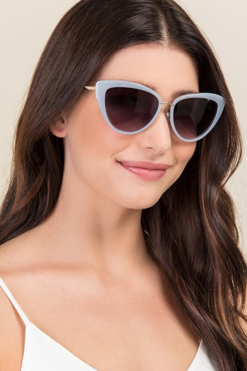 54e36f3a063 Valerie Cat Eye Sunglasses-Lavender model