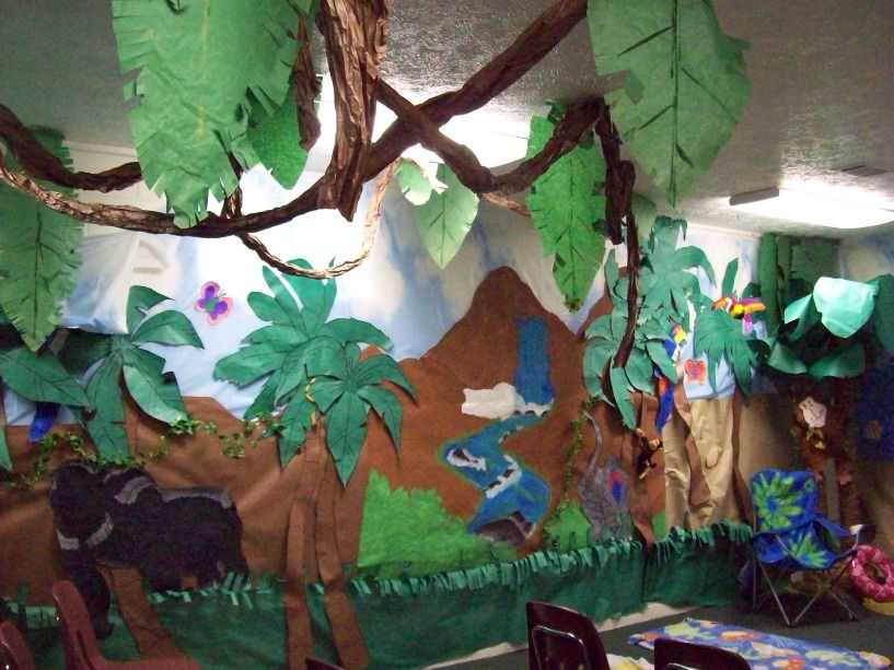 Classroom Rainforest Ideas : Jungle theme classroom decorating