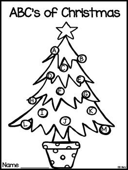ABC's of Christmas {A fun Kindergarten booklet to make by