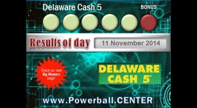 Delaware Cash 5 - 11 November 2014 - De Lottery Delaware