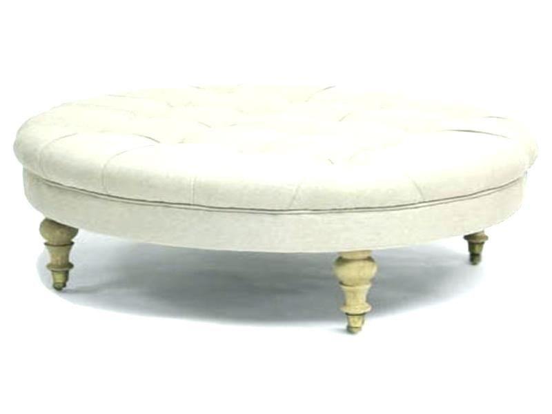Pleasant Best Of Large Round Ottoman Coffee Table Illustrations Uwap Interior Chair Design Uwaporg