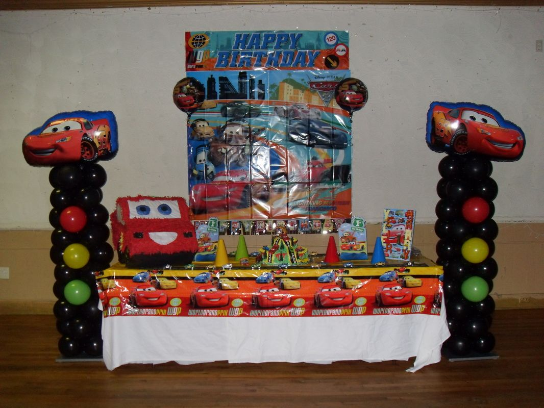 Table Centerpieces For Parties CARS PARTY PARTY DECORATIONS BY