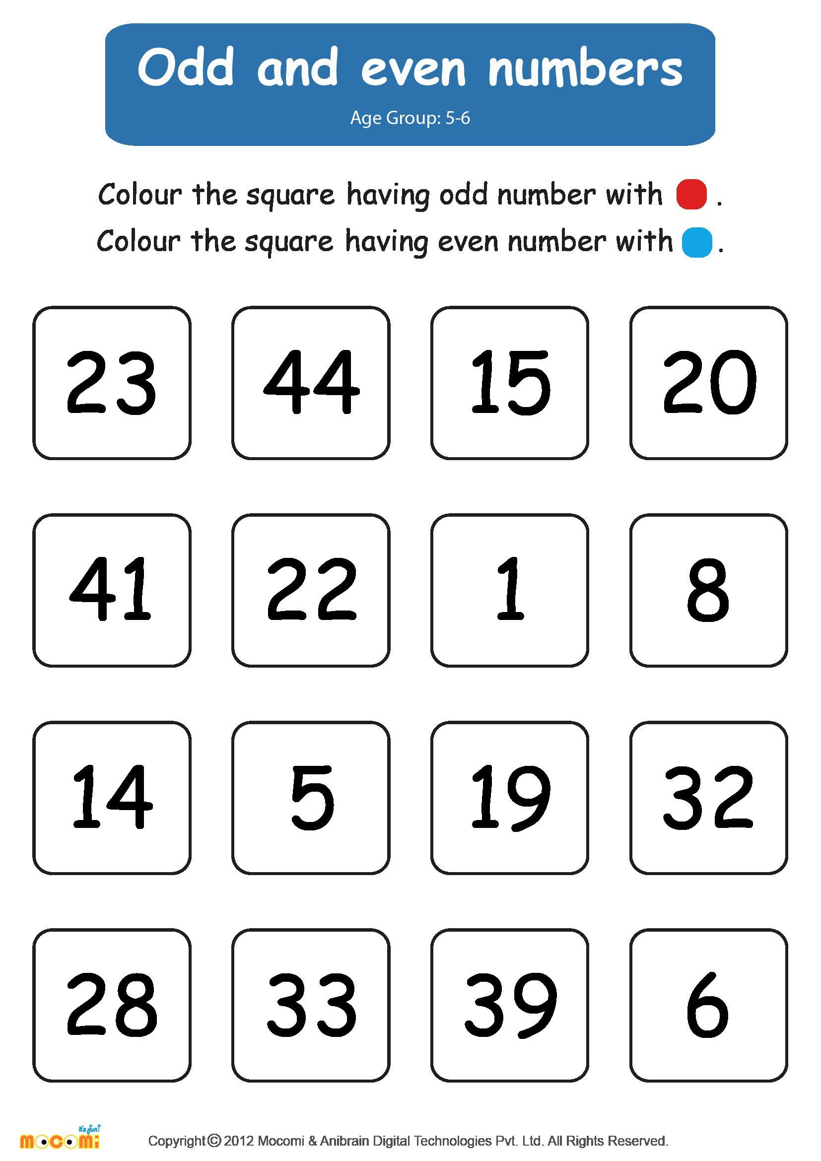 Kindergarten Even And Odd Number Worksheet In 2020 Kids Math Worksheets Math Worksheets 2nd Grade Math Worksheets