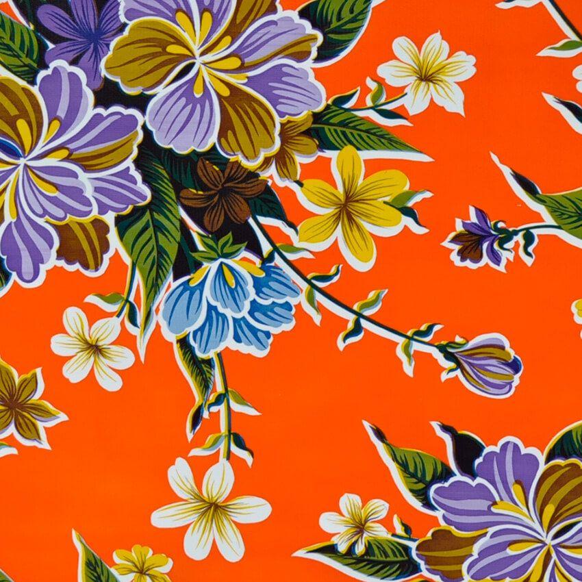 Manteles De Hule De Flores A Metros Fantastik Natura Hibisco