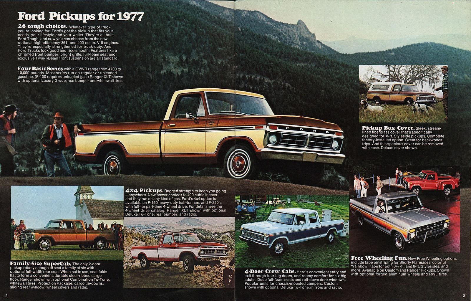 1977 FORD truck sales literature. | Classic workhorses | Pinterest ...
