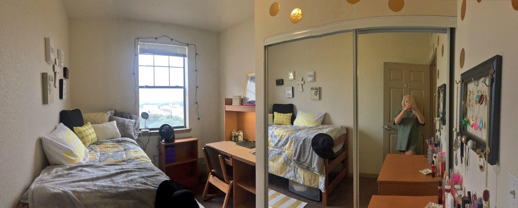 Texas State University San Jacinto Hall Dorm C Texas State University Texas State Dorm Guy Dorm Rooms