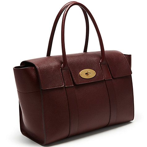 b23b185b28 Buy Mulberry Bayswater New Classic Natural Grain Leather Bag Online at  johnlewis.com