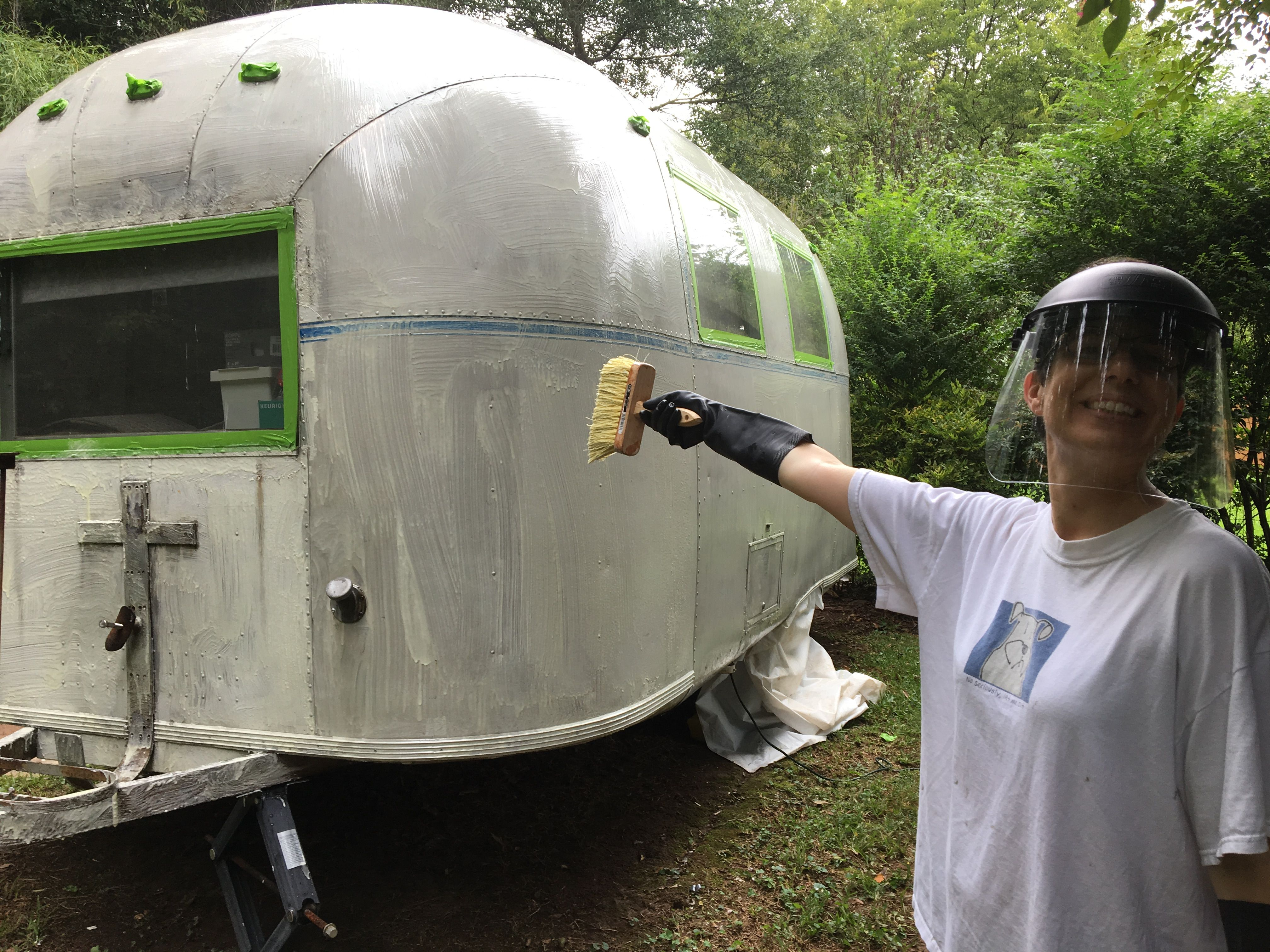 Stripping the old clear coat with PPG Aerospace paint