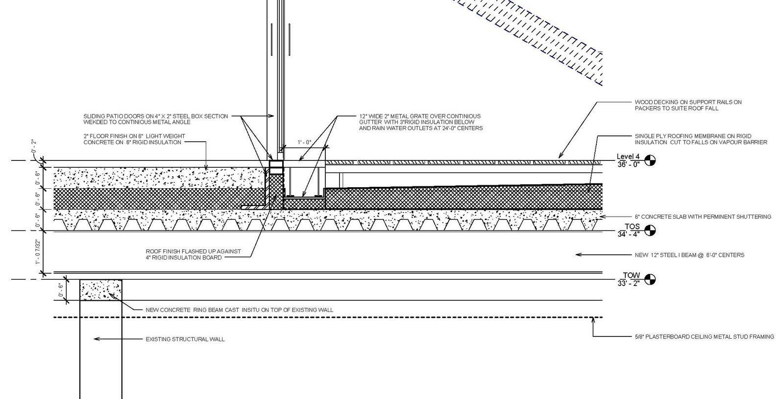resultado de imagen para concrete floor exterior roof top detail