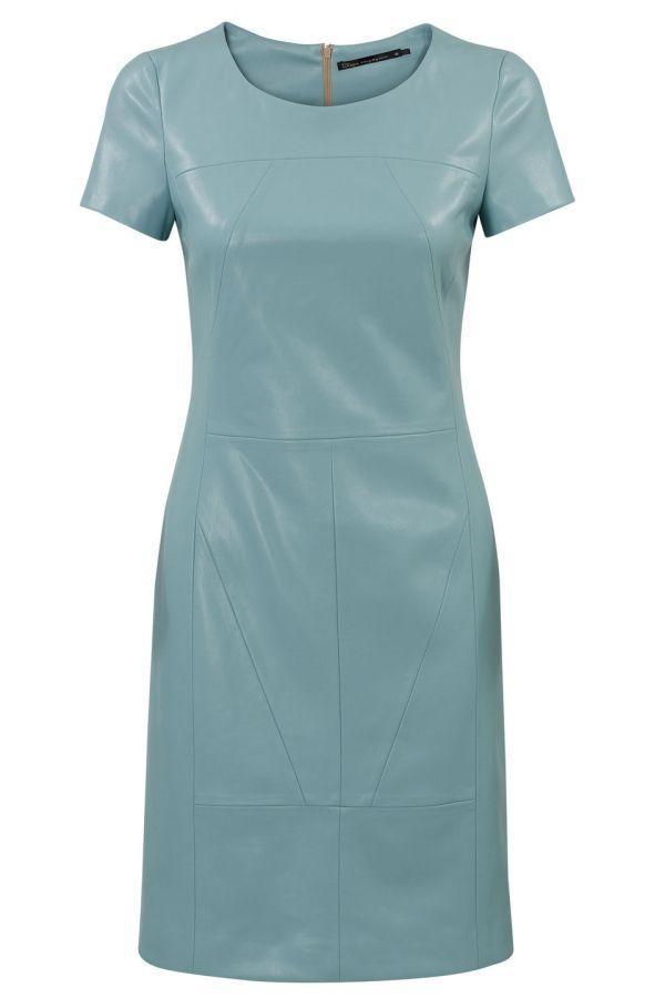 leren jurk blauw