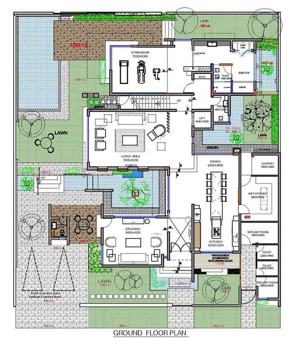 Contemporary Three Level Home On Amwaj Island Bahrain Courtyard House Plans Home Design Floor Plans How To Plan