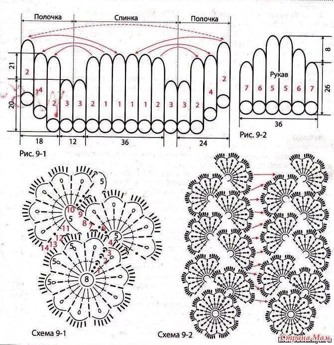 вязание крючком лента картинки со схемой вессение крокусы