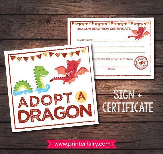 Adopt A Dragon Printables Pet Adoption Party Dragon Adoption Etsy In 2020 Dragon Birthday Parties Dragon Birthday Pet Adoption Party