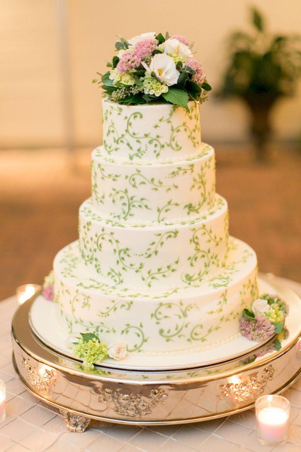44 Awesome Greenery Wedding Cake Ideas | Pinterest | Wedding cake ...