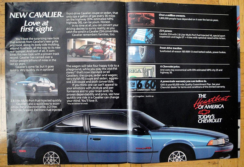 Amazon Com 1988 Chevrolet Cavalier Rs 2 Door 2 8 Liter Original