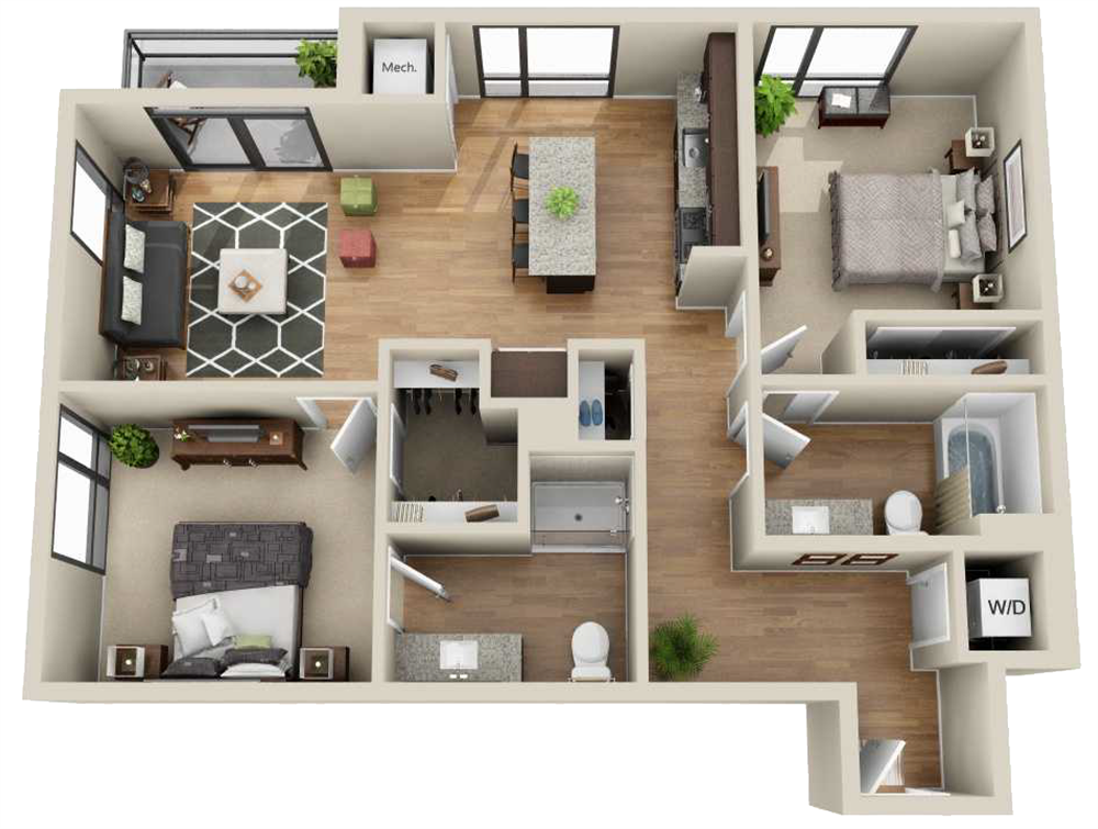 Patterns On The Bedding And Rug Are Very West Elm Crate And Barrel Like Which Most Of Our Models Are Decorat Sims House Plans Sims House Small House Plans