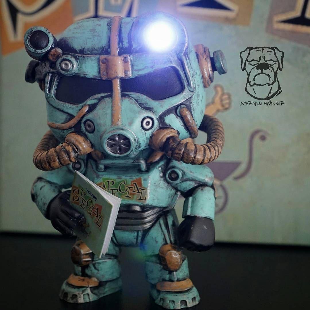 Fallout Power Armor Custom Funko Pop by Adrian Müller