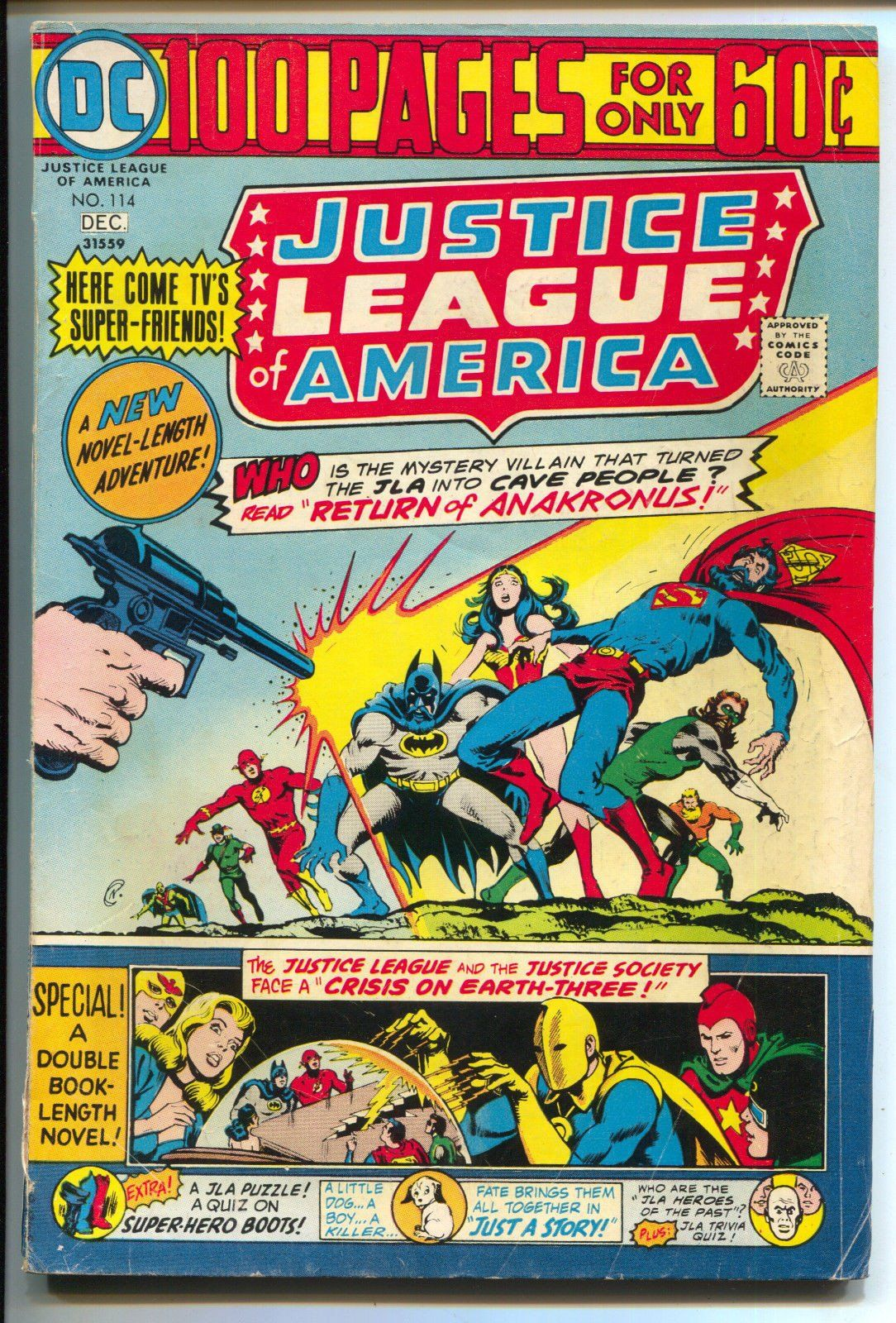 Justice league of america 114 dc 1974 gd vg superman