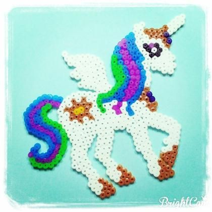 cration perles repasser hama licorne de my little pony