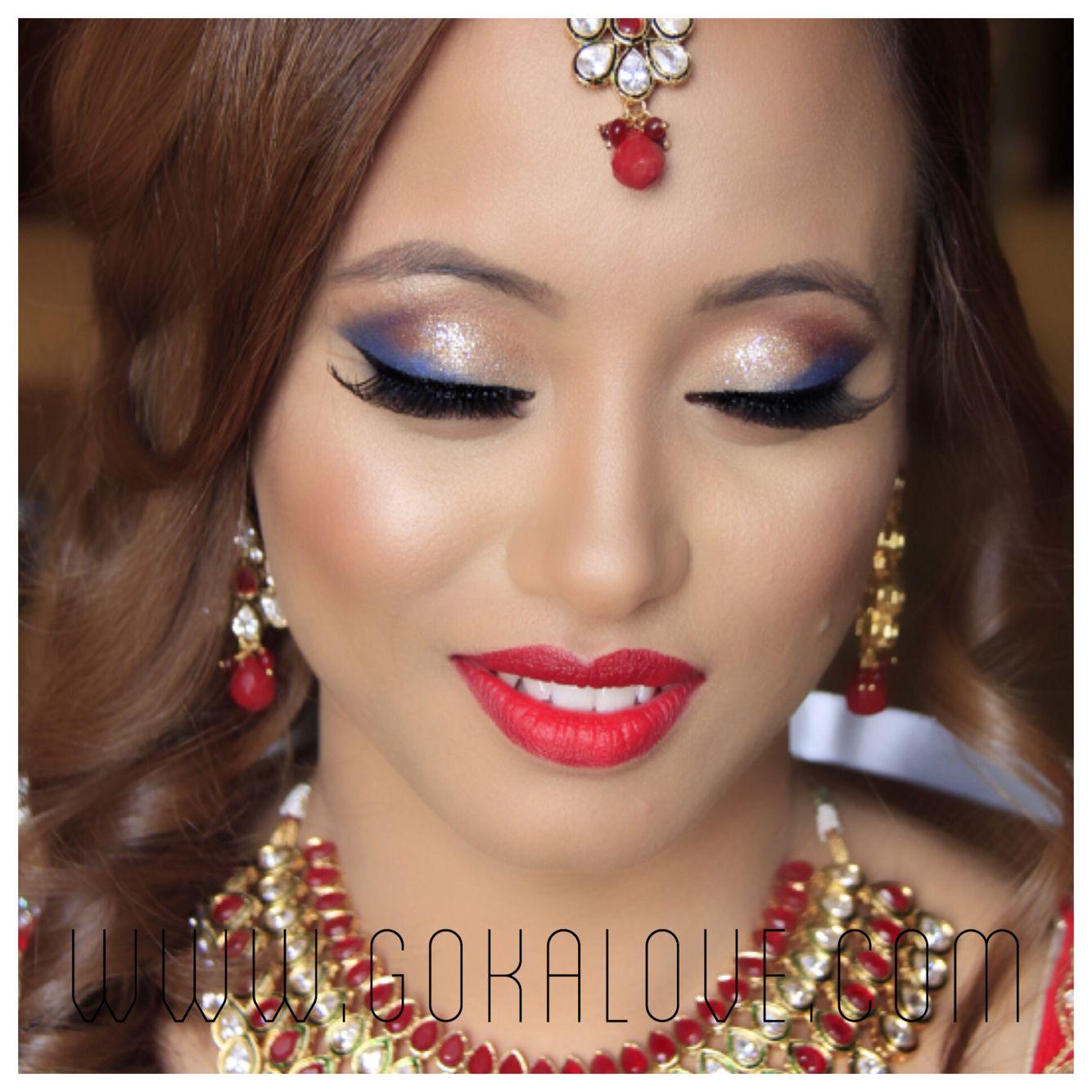 makeup and hair! boston, indian wedding, nepali wedding