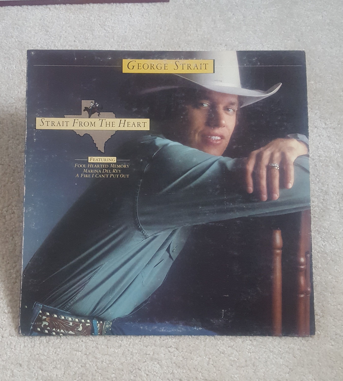 George Strait Vinyl Strait From The Heart Lp 1982 Original Mca5320 Vg Vg Fool Hearted Memory Amarillo By Morning In 2020 Vinyl Sales George Strait Nirvana Vinyl