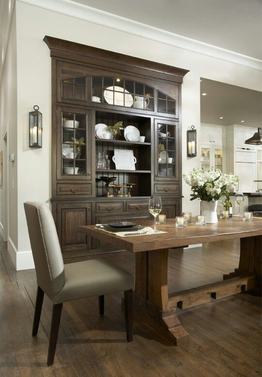 Built In China Cabinet  Beautiful!