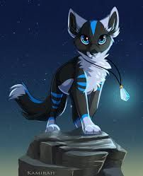 Photo of white-black-blue wolf with chain Kamirah – #Kamirah #Kette #mit #tekenen #wei …