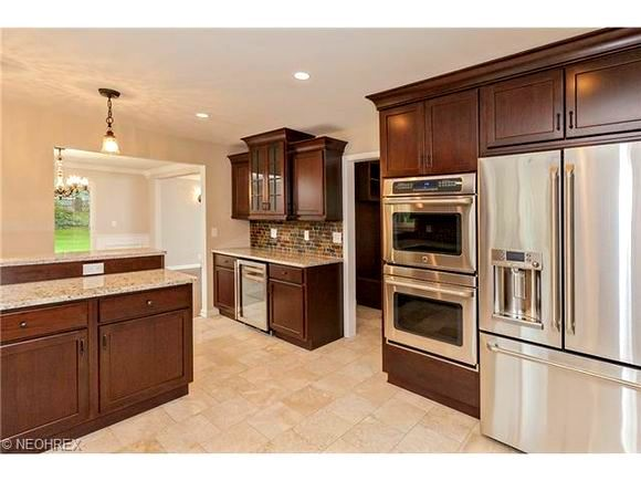 shaker heights oh kitchen remodel kraftmaid kaffe cherry shaker style cabinets ge cafe stainless