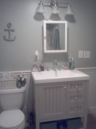 Cape Cod Bathroom Design Ideas | Cape Cod Bathroom, Our Recently Renovated  Bathroom. This Is Our First ... I Like The Vintage Dresser | Pinterest | Cape  Cod ...