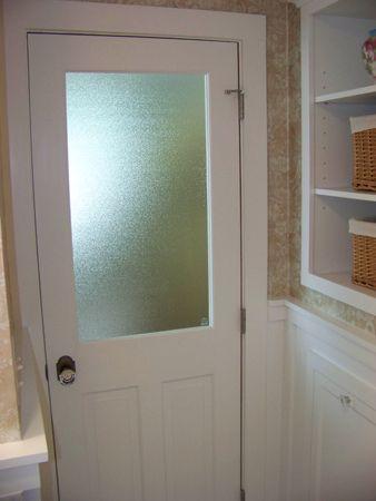 Install A Window In The Door Of Your Windowless Bathroom New