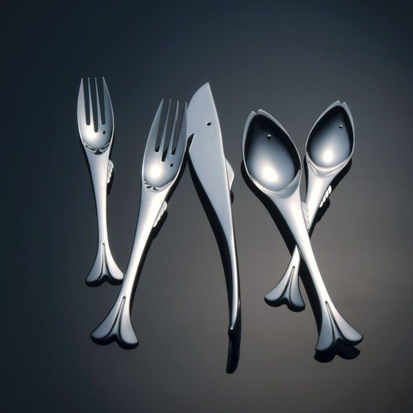 Bivi Table for One & Bivi Table for One | Flatware Fish design and Kitchen utensils