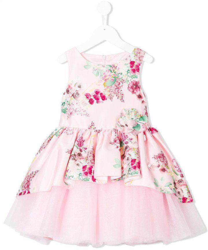 086bbb57a76f David Charles Kids floral print tutu dress ...