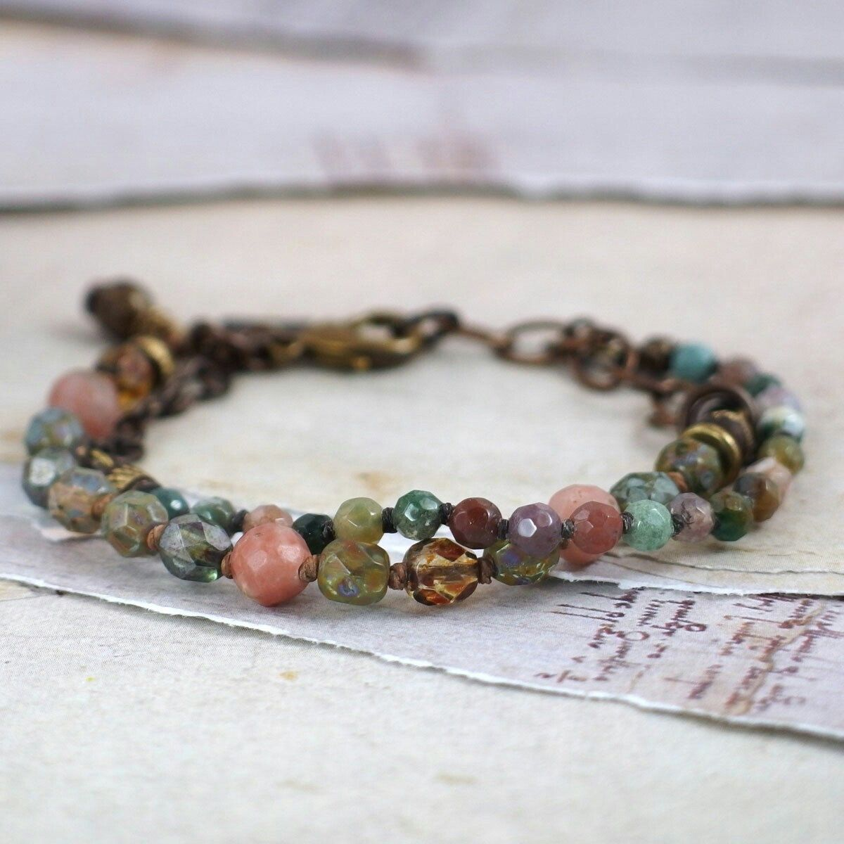 This beautiful bracelet reminds me of a flower garden!