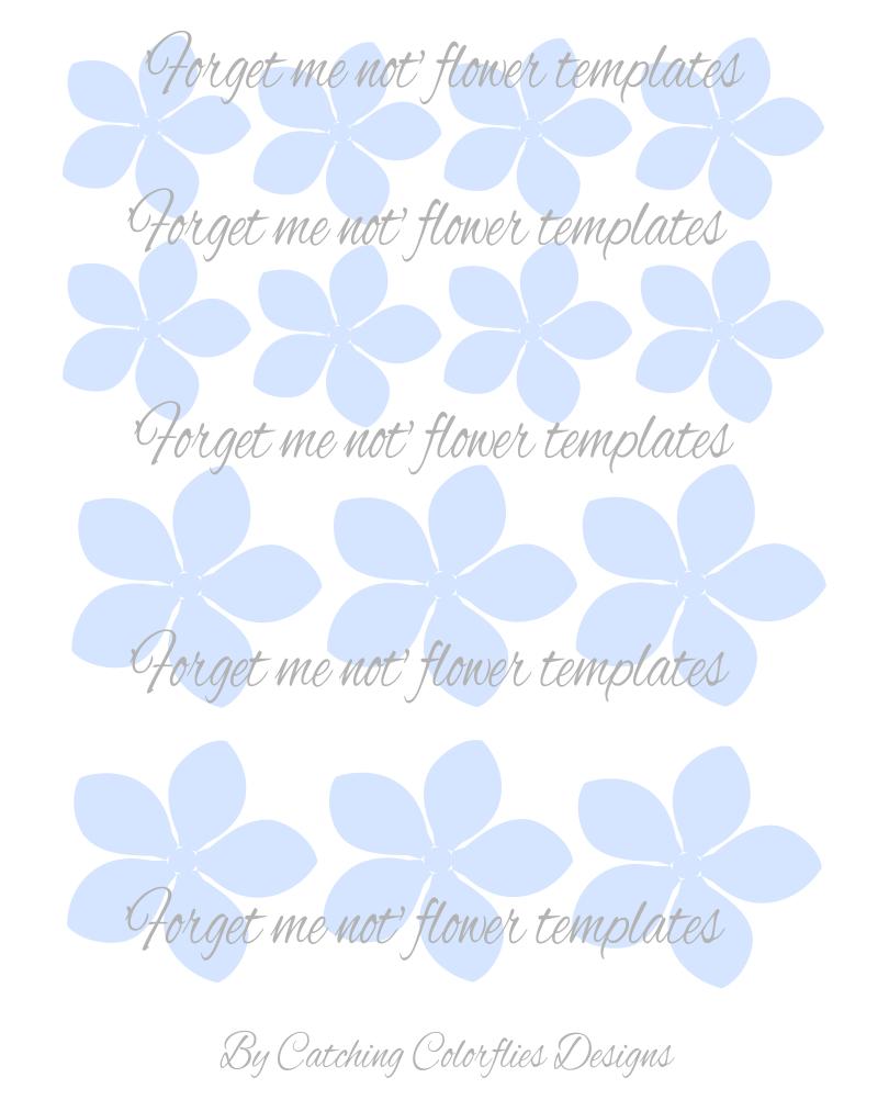 forget me not paper flower templates printable u0026 svg cut file