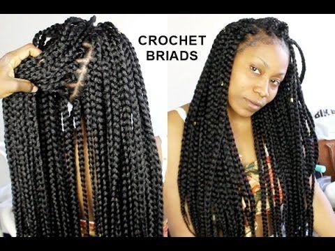 No Cornrows Crochet Braids Only 1 Hour Tutorial Video Curls