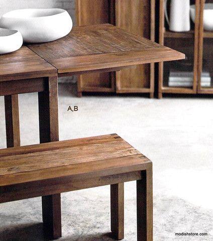 Roost Liege Teak Table Bench Teak Table Home Decor Home Decor Online