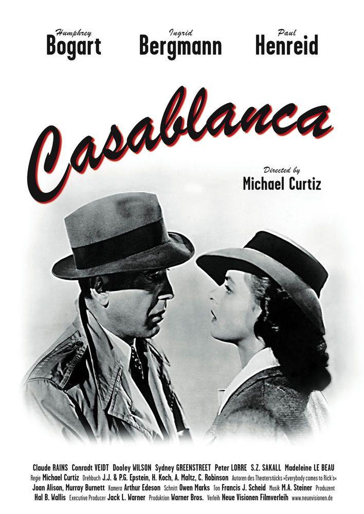 "Casablanca poster Humphrey Bogart 16/"" x 20/"" Superior quality"