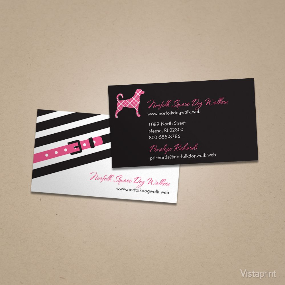 Black Dog Boutique Business Card | Vistaprint | Cute Animals ...