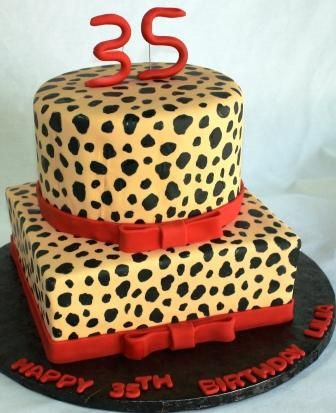 Red And Cheetah Print Birthday Cake cakepinscom Rowan turns 6