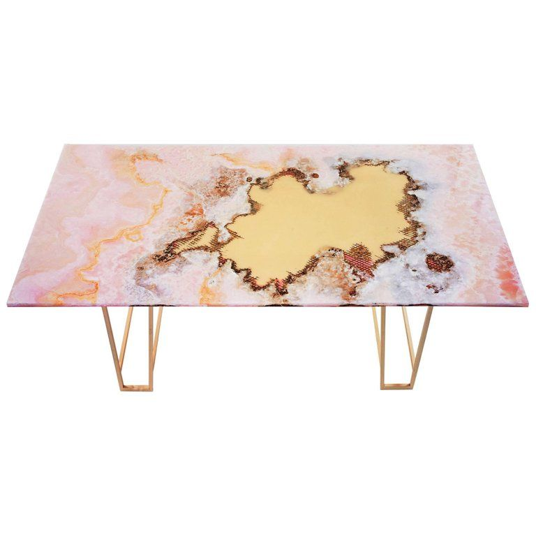 Canyon Dining Table Pink Onyx For Sale Dining Table Marble