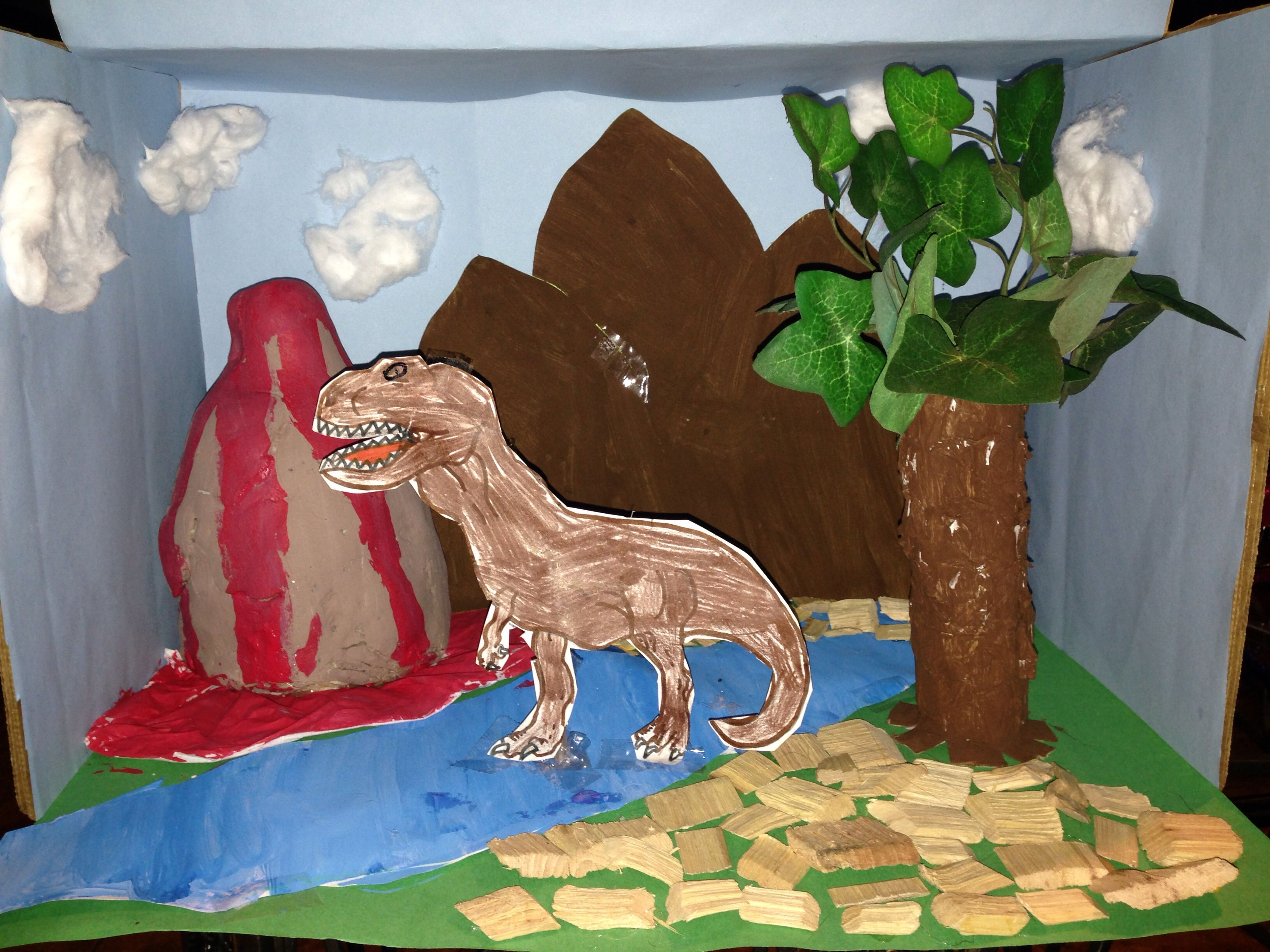 Dinosaur Diorama - ideas for Isaac's project