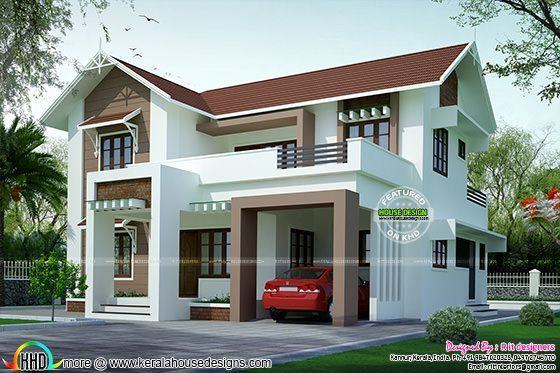 Split Roof Design: Slope Roof Style House