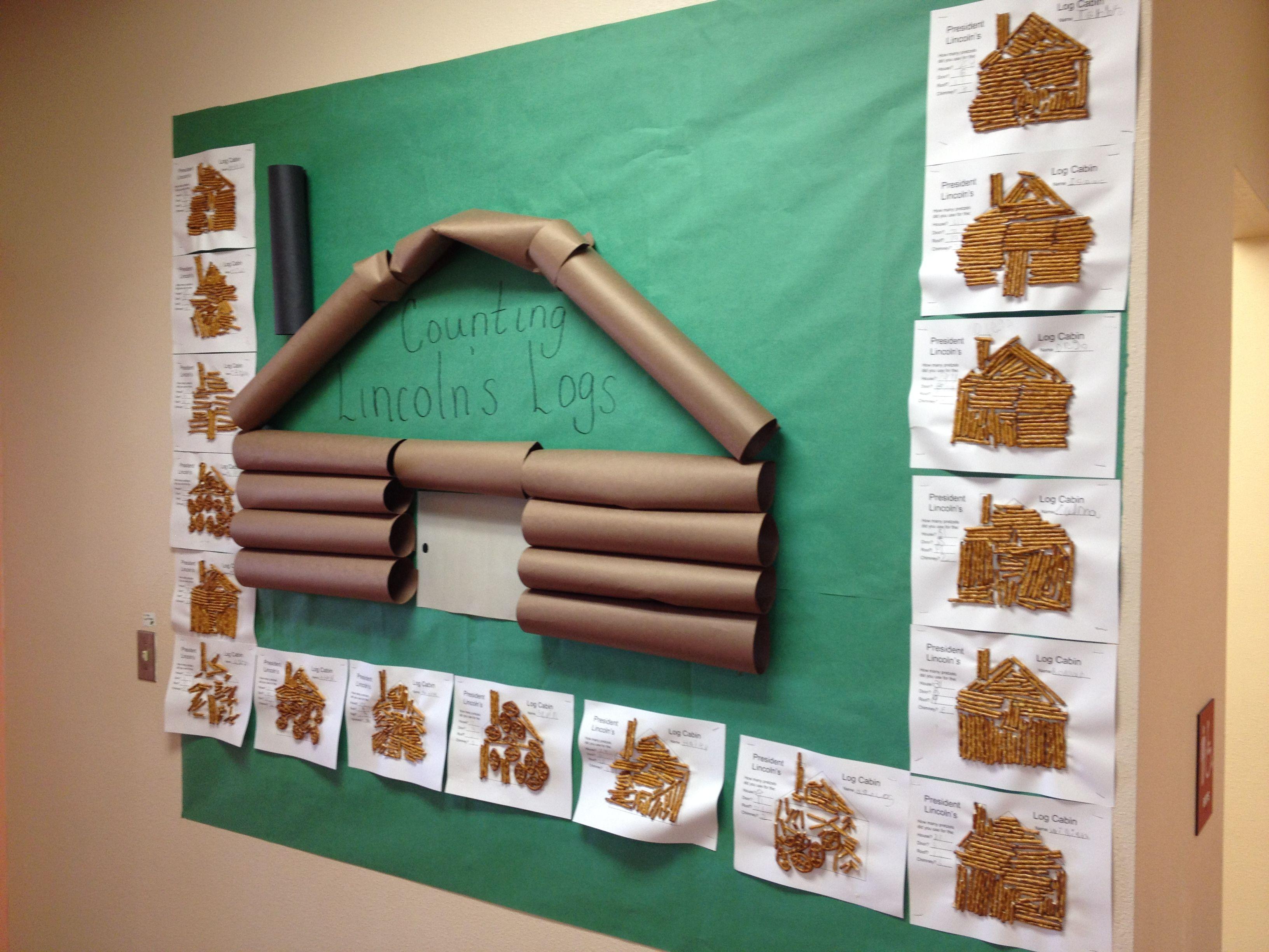 Lincoln S Log Cabin Math Activity And Board