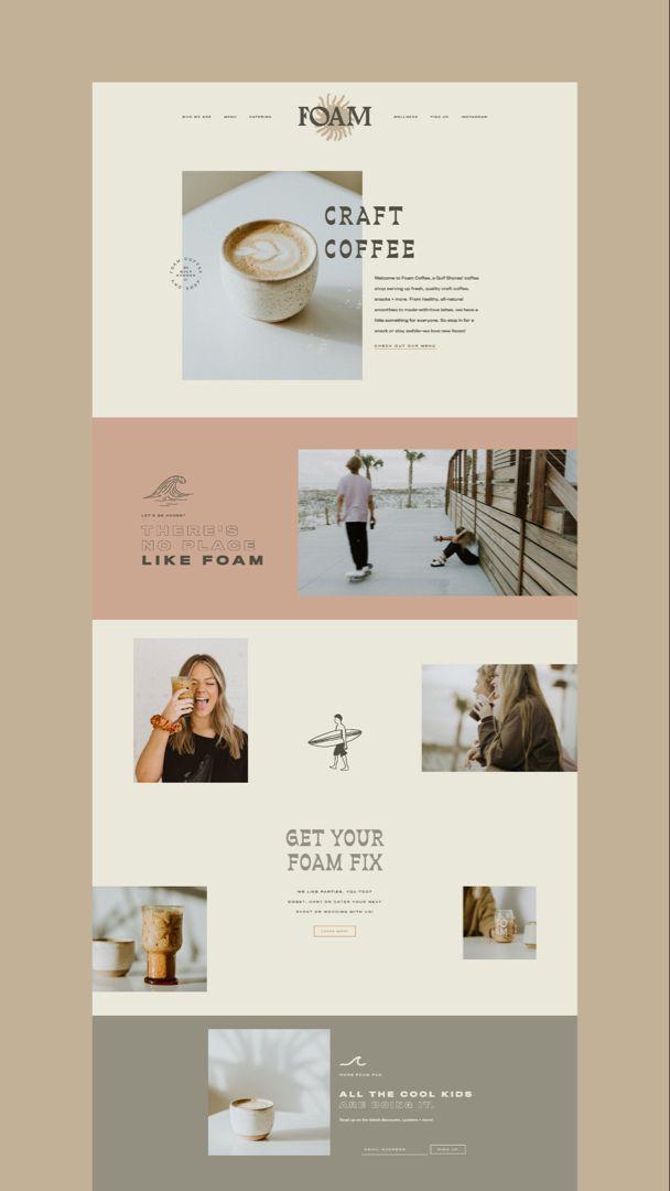 Western, modern, cool, coastal coffee shop branding, bold logo design, unique, sunshine, retro, one-of-a-kind brand #brightenmade #webdesign