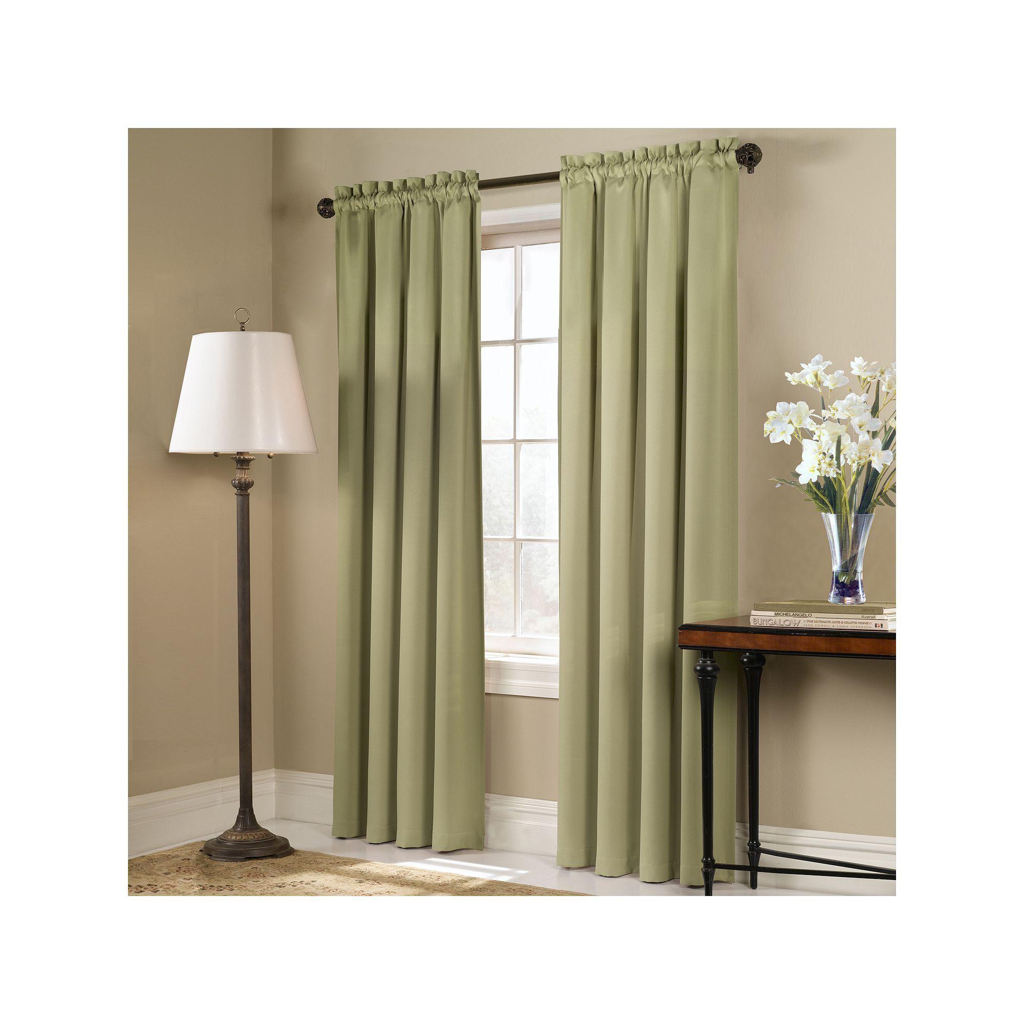 United Curtain Co Blackout 1 Panel Blackstone Window Curtain