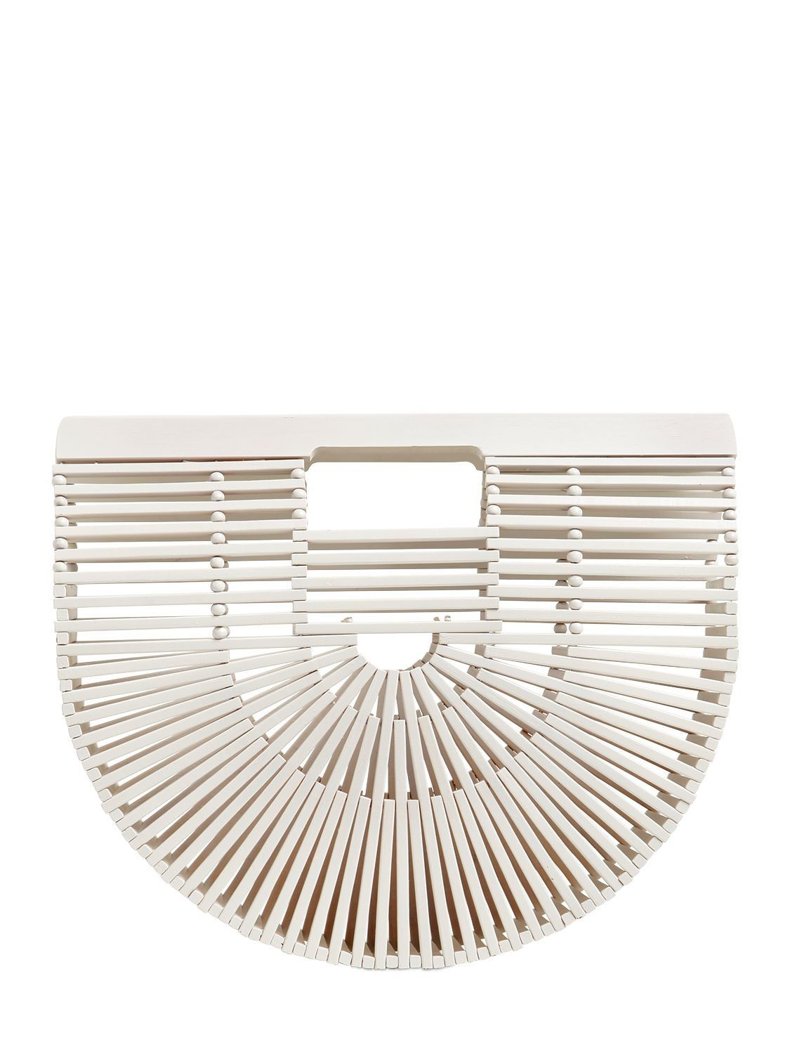 CULT GAIA SMALL GAIA'S ARK WHITE BAMBOO BAG. #cultgaia #bags # # #smallgaia'sarkbag